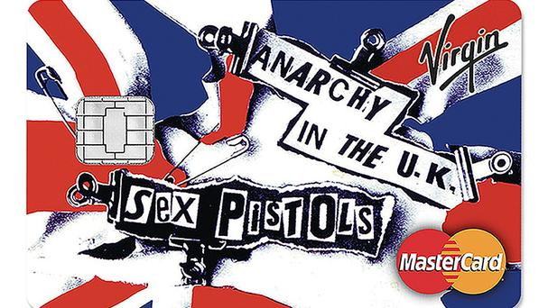 A new range of credit cards featuring the Sex Pistols has been released (Virgin Money/PA)