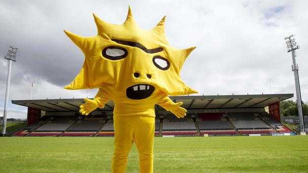 Partick Thistle's new mascot Kingsley has caused a stir on Twitter (Jeff Holmes/PA Wire)