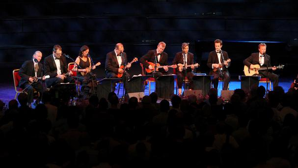 The Ukulele Orchestra of Great Britain performs at the BBC Proms