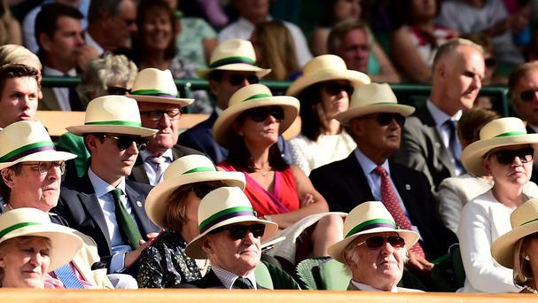 Tennis fans have lost 120 straw hats during the Wimbledon Championships