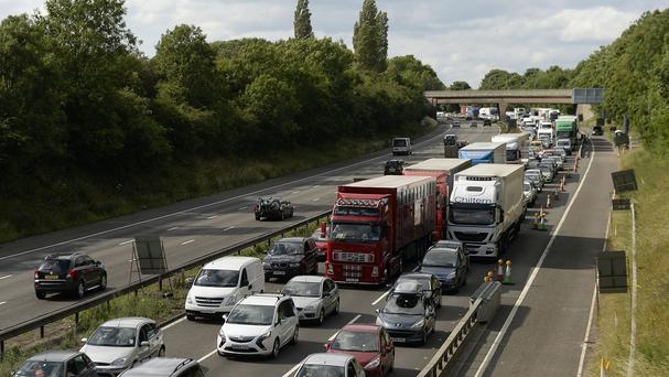 Tailbacks on the M6 in Staffordshire after the lorry fire closed the motorway for repairs