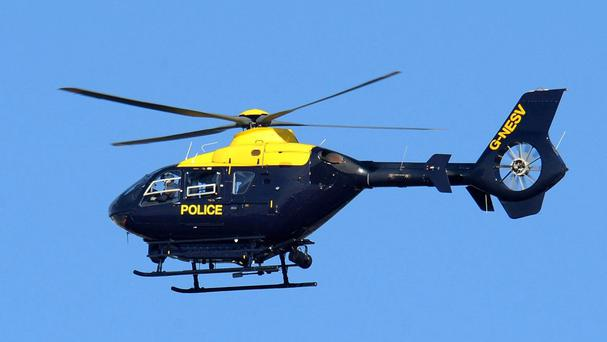 Police helicopters were used in the chase
