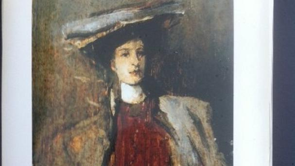 Portrait of a Lady by Sir John Lavery was one of three valuable artworks stolen from a home in Donard, Co Wicklow last October