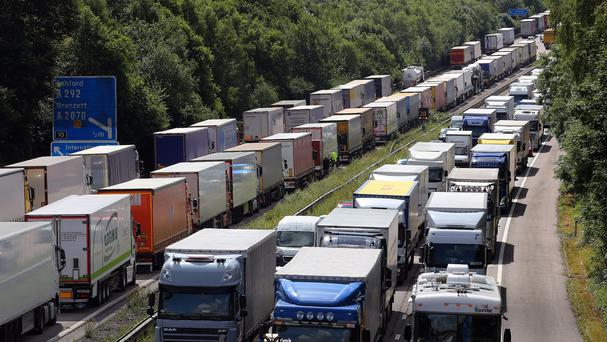 Lorry drivers languishing in Operation Stack were entertained by a one-man mobile disco