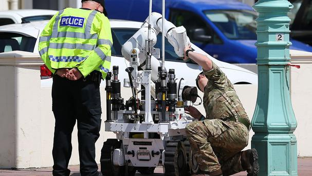 A controlled explosion was carried out on what was considered to be a suspicious package