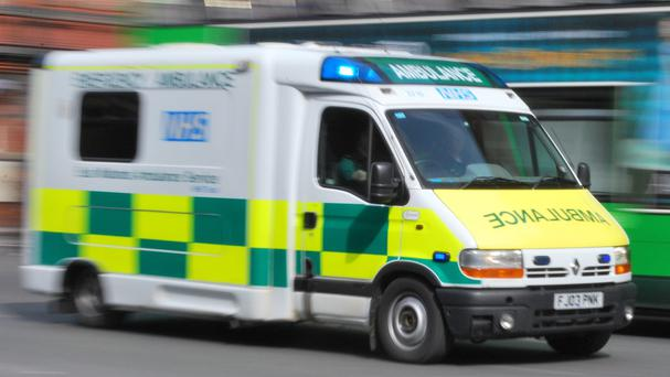 The man was taken to Royal Stoke University Hospital after the accident