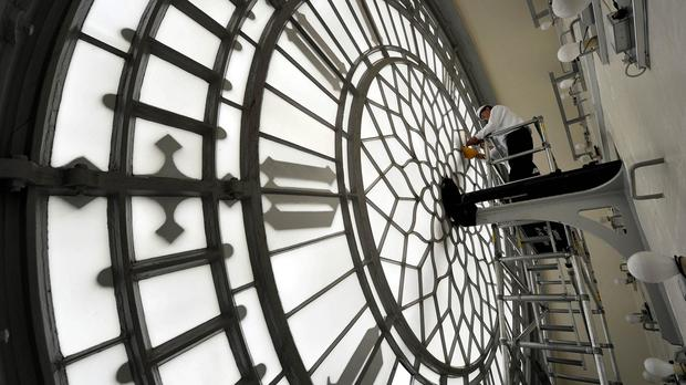 Clocksmiths are working to put right Big Ben's famous chimes