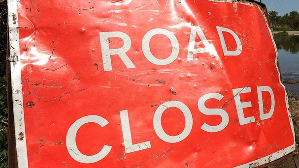 The west-bound carriageway is currently closed