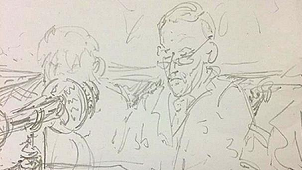 A sketch of Jeremy Corbyn during his first Prime Minister's Questions, by Conservative MP Charlotte Leslie (Charlotte Leslie/PA Wire)