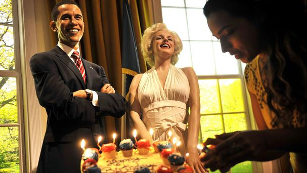 Happy Birthday To You from a Marilyn Monroe waxwork to a figure of US President Barack Obama at Madame Tussauds