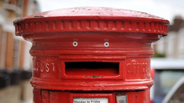 Royal Mail post box in Britain