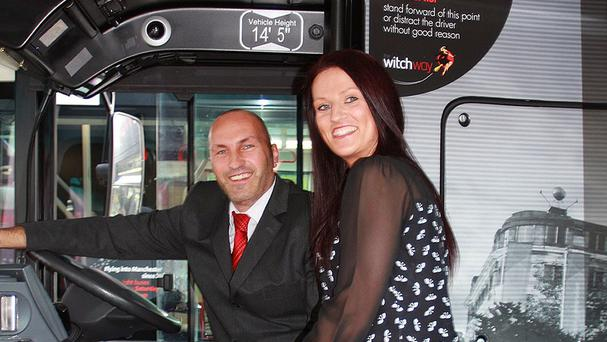 Bus driver Jarrod Spedding is finally tying the knot with his dream traveller Charlene Liversidge after almost six years (Transdev/PA)