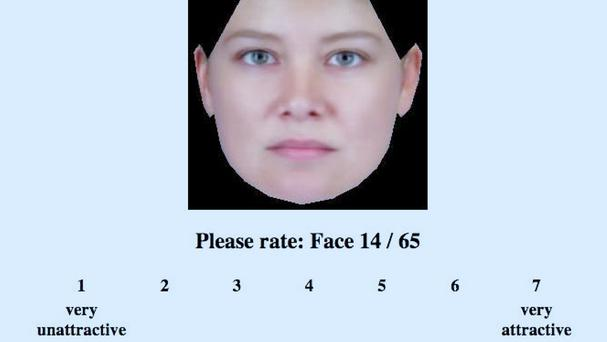 The 'rate-that-face' experiment demonstrated that beauty is largely in the eye of the beholder (Cell Press/PA)