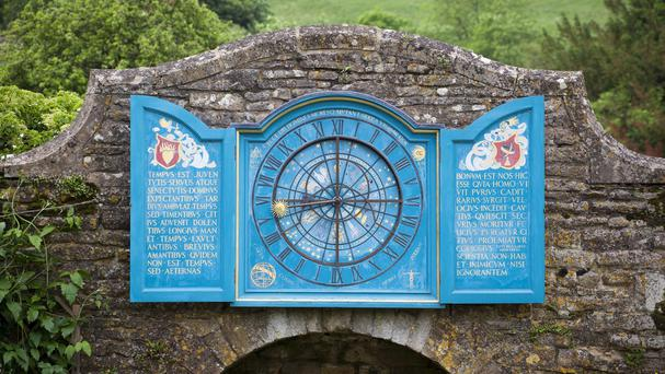 The Nychthemeron Clock, one of the 52 clocks at Snowshill Manor in Gloucestershire which will not be put back an hour (National Trust/PA)