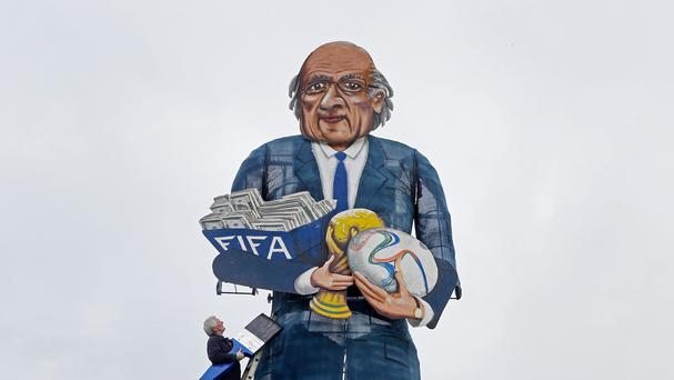 The Edenbridge Bonfire Society's Sepp Blatter effigy will go up in flames at the weekend