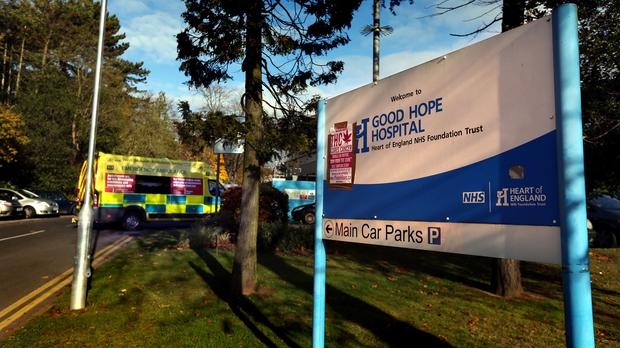 The Good Hope Hospital in Sutton Coldfield, where mortuary capacity issues contributed to a mix-up over the body of MEP Philip Bradbourn