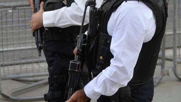 Firearms officers from Cambridgeshire Police were called to reports of an armed robbery