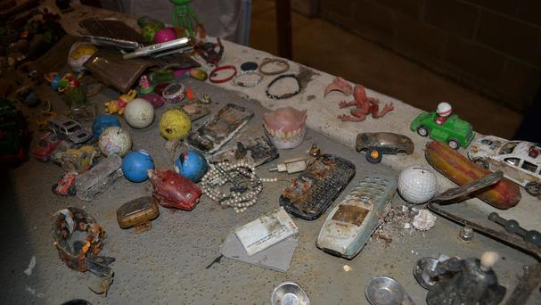 Some items which have been found in sewers (Anglian Water)
