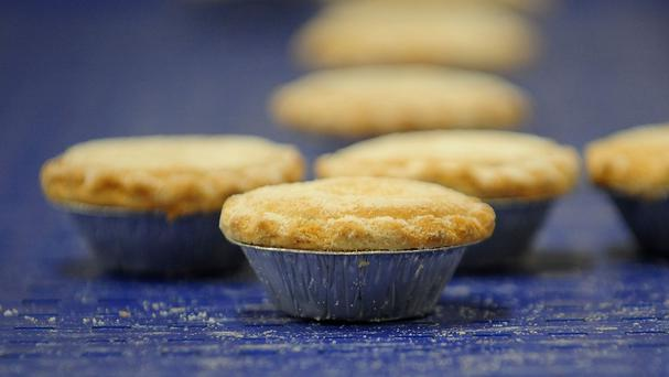 The house was made up of 1,200 mince pies