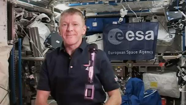 Major Tim Peake is to deliver a New Year message to the Edinburgh's Hogmanay street party (PA/European Space Agency)