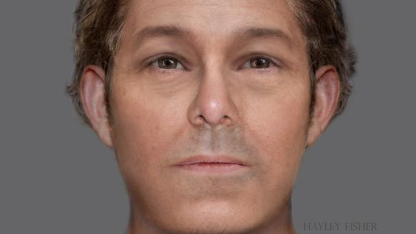A facial reconstruction of a skeleton found underneath a primary school playground in Edinburgh (Forensic artist Hayley Fisher/City of Edinburgh Council/PA)