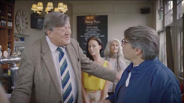 The new British etiquette video starring comedian Stephen Fry (Heathrow Airport/PA)