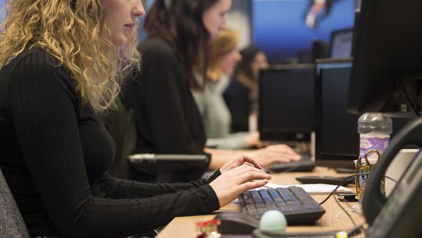 Office workers are increasingly tied to their desks, research shows