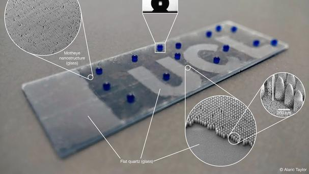 A smart glass prototype developed by the UCL team (EPSRC/PA)