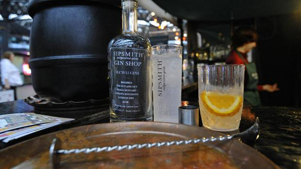 More than two-thirds of the gin distilled in the UK now goes to overseas drinkers