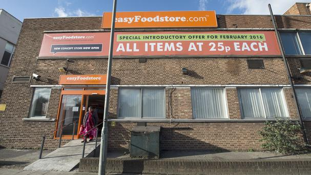 The exterior of a new easyFoodstore in Park Royal, north-west London