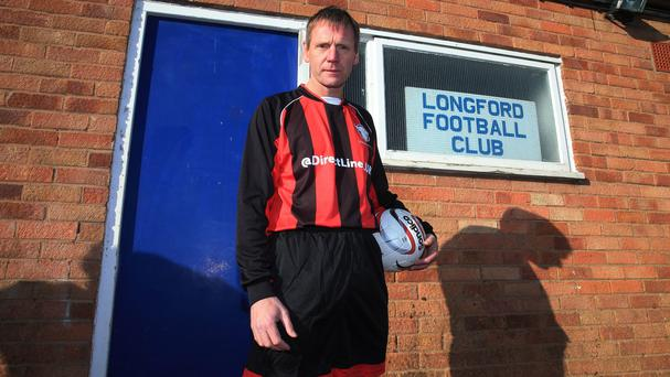 Former England defender Stuart Pearce was to have come out of retirement for Longford AFC