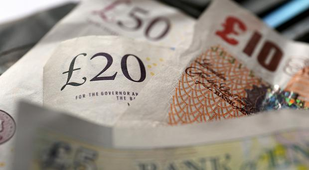 Sterling also dropped to a two-week low against the dollar and sank versus all but two of its 16 major peers. Photo: PA
