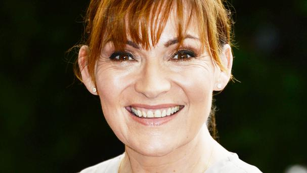 TV presenter Lorraine Kelly was among the celebrities who featured in the video