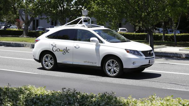 A Google self-driving car takes to the streets in Mountain View, California (AP)
