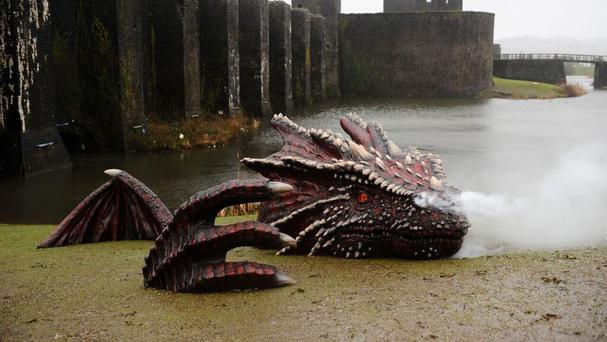 Things are hotting up at Caerphilly Castle