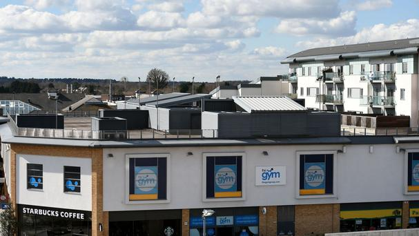 The car park on top of a roof in Farnborough