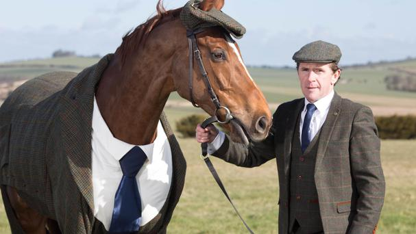 AP McCoy unveils the world's first authentic Harris Tweed suit designed for a racehorse