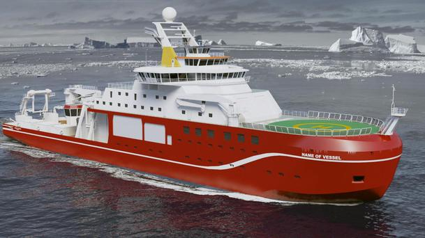 An artist's impression of the state-of-the-art polar research ship (NERC)