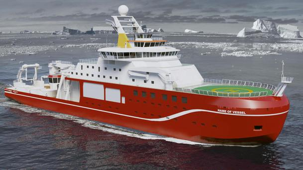 An artist's impression of the state-of-the-art polar research ship
