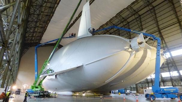 The third fin is attached to the Airlander 10