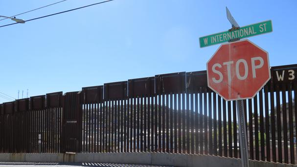 The international border fence in Nogales, Arizona (AP)
