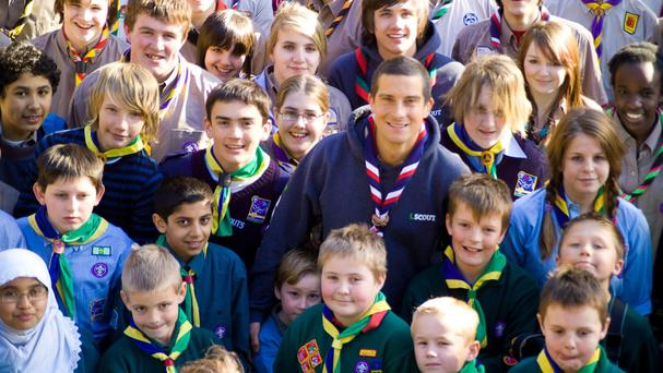 Bear Grylls welcomed the rise in the number of Scouts