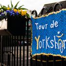 Yarnbombing in Thirsk, North Yorkshire, as the town prepares for the Tour de Yorkshire cycle race (Michael Atkinson/Welcome to Yorkshire/PA)