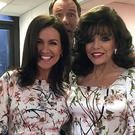 Dame Joan Collins and Susanna Reid suffered a wardrobe double-up, appearing on Good Morning Britain wearing the same dress (Joancollinsdbe/Twitter/PA)