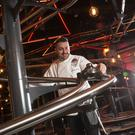 Dan Willbraham, executive head chef, unveils the plate tracks at the Alton Towers Rollercoaster Restaurant