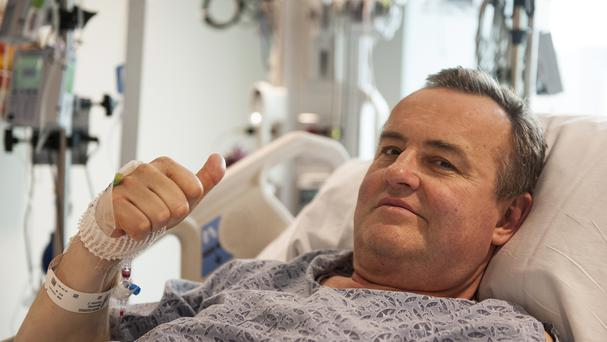Thomas Manning has undergone the first penis transplant in the United States (Sam Riley/Mass General Hospital via AP)
