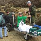 Paul Lane was rescued by disabled ramblers after he broke his leg while walking his friend's dog in Cornwall (John Cuthbertson/PA Wire)