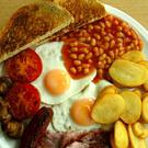 A full English breakfast take a whole bath full of water to produce, according to analysis