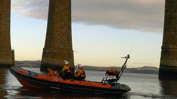 South Queensferry lifeboat was sent out after reports of a possible aircraft ditching