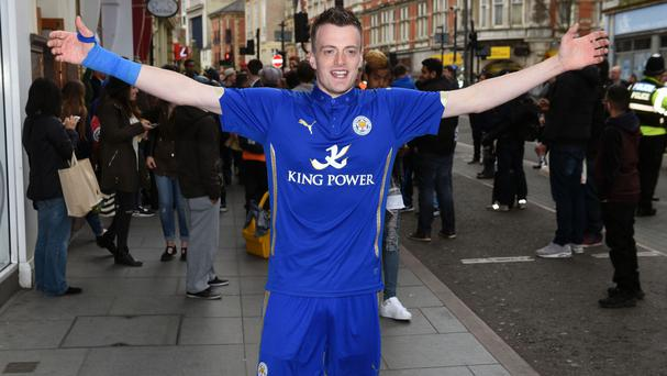 Jamie Vardy's double - postman Lee Chapman - would be devastated if the striker transfers to Arsenal